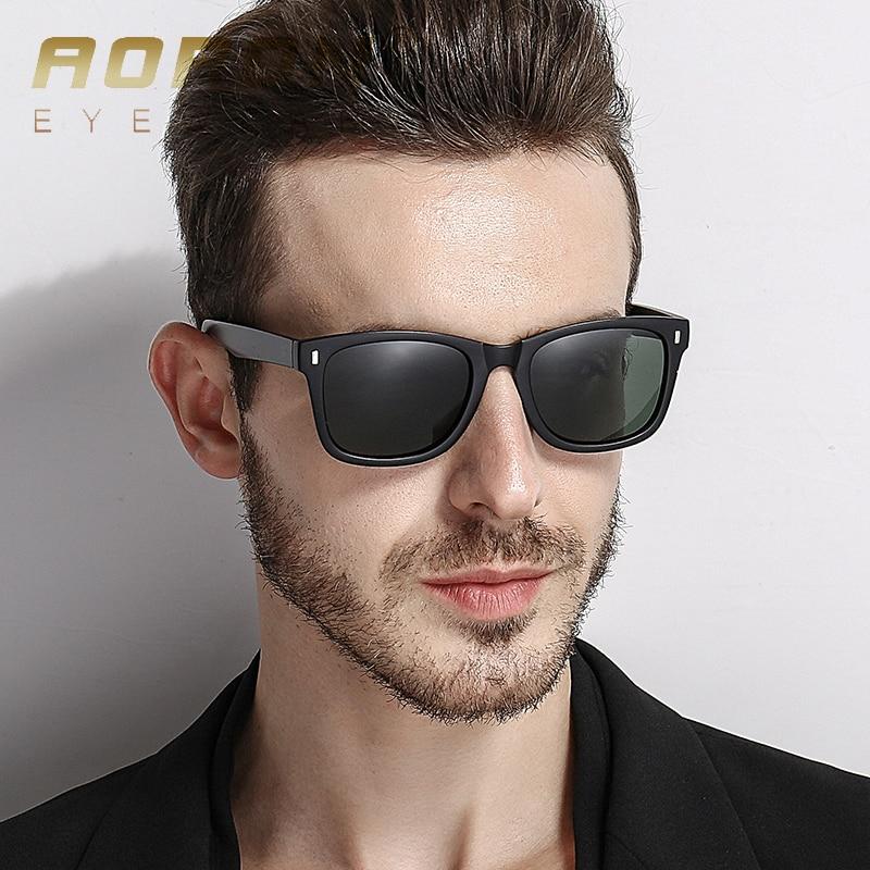 AORON Retro Unisex Sunglasses Men Women Brand Designer Real Polarized UV400 HD lens Square Sun glasses Classic Driver Eyewear
