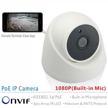 ANTS Full HD 1080P SONY IMX323 2.0Mega Pixel Onvif 2.42 Indoor PoE IP Camera with Wide View Angle Lens and Built-in Microphone