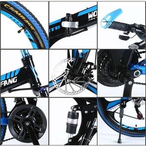 "Image 3 - Wolf fang mountainbike 21speed 26 ""zoll faltrad rennrad unisex volle stoßfest rahmen fahrrad front und hinten mechaniker"
