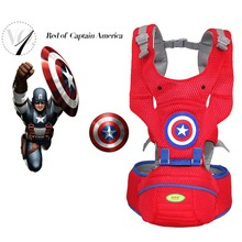 2017 NEW Captain America baby carrier backpack,  Ergonomic Carrier 360 Multifunctional Baby Wrap Slings for Babies