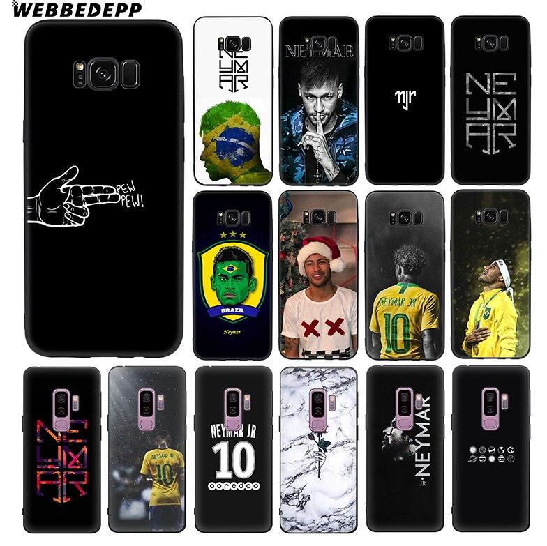 WEBBEDEPP Neymar Football Star Soft TPU Silicone Case for Samsung Galaxy S10 S10e S9 S8 Plus S7 S6 Edge & J6 Phone Case