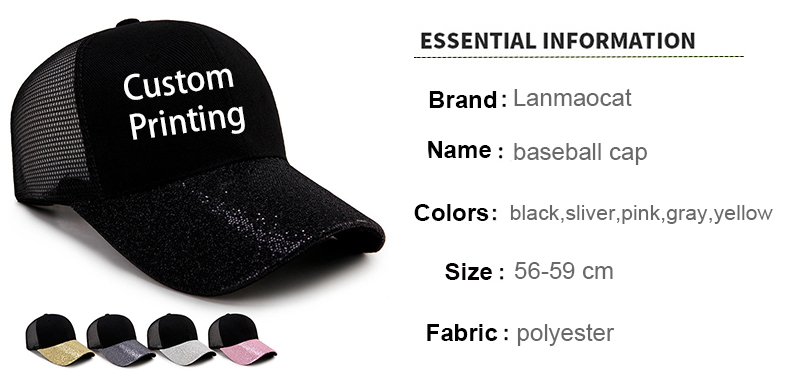 Hot Sale Ladies Baseball Caps Flower Printing Summer Style Hip Hop Cool Cap  for Women Quick Dry Adjustable Sun Hat Free Shipp ac221a269561