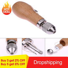 Professional Design Metal + Wood Leather Tool DIY Speedy Stitcher Sewing Awl Tool Kit Leather Sail & Canvas Heavy Repair