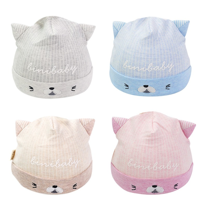 Hats & Caps Accessories All Season Unisex Lovely Baby Boy Girl Cartoon Elastic Hats Turban Cap Cute Cotton Soft Infant Hair Accessories Hats New Complete In Specifications