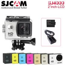 [Extra Battery + Charger] Original SJCAM 2.0″ SJ4000 Basic Action Camera Waterproof 1080P Helmet Camera HD Sport DV SJ 4000 Cam