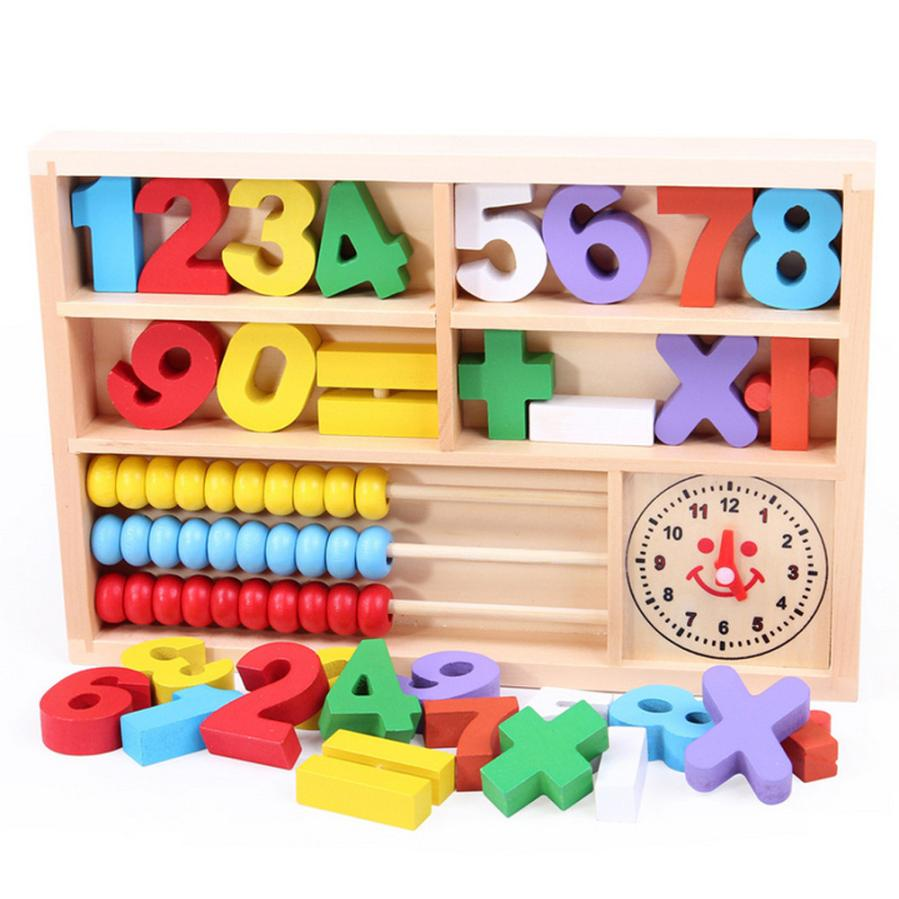 Kids Child Wooden Numbers Mathematics Early Learning ...