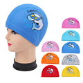 PU Fabric Cute Cartoon Animal Dolphin Kids Children Swimming Cap Waterproof Protect Ears Long Hair Boys Girls Swim Pool Caps Hat