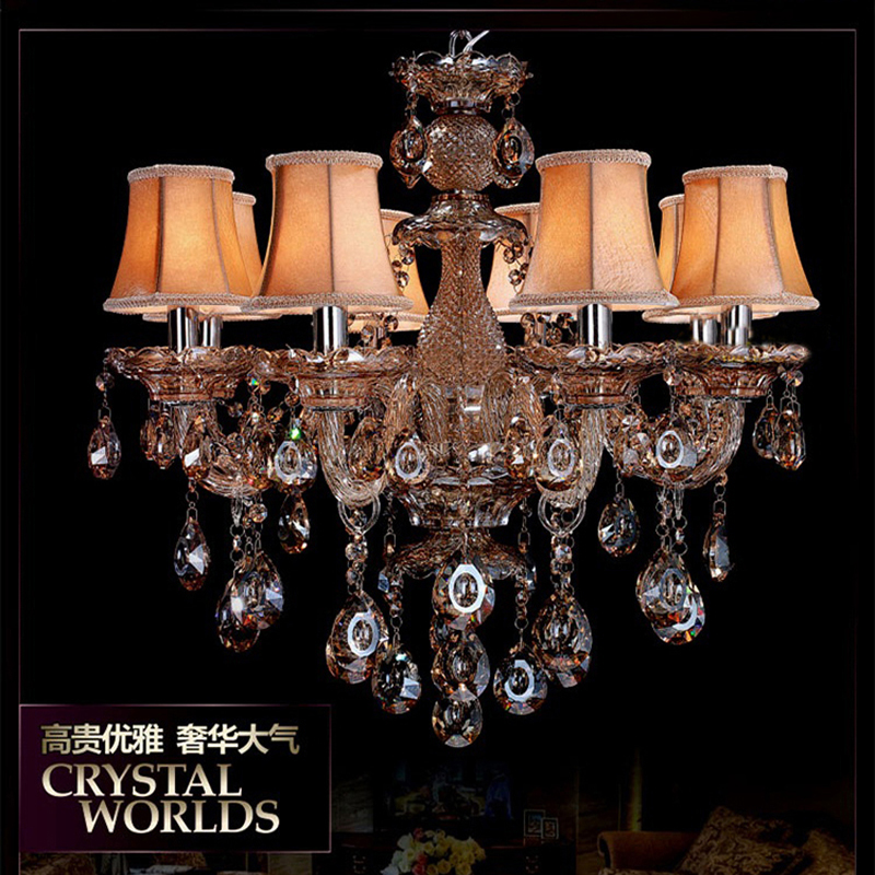 Glass cognac chandelier lamp shades lustres de sala de janta glass cognac chandelier lamp shades lustres de sala de janta candelabro art deco lustre moderne crystal chandelier lamp in chandeliers from lights aloadofball