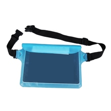 Waterproof Dry Pack Outdoor Swimming Drifting Waterproof Pouch Dry Bag PVC Waist Phone Cover Storage Protective Bag