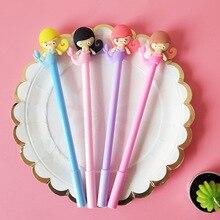 Buy 32 pcs/Lot Baeutiful mermaid gel pen 0.5mm Black color writing pens Stationery Office School supplies FB898 directly from merchant!