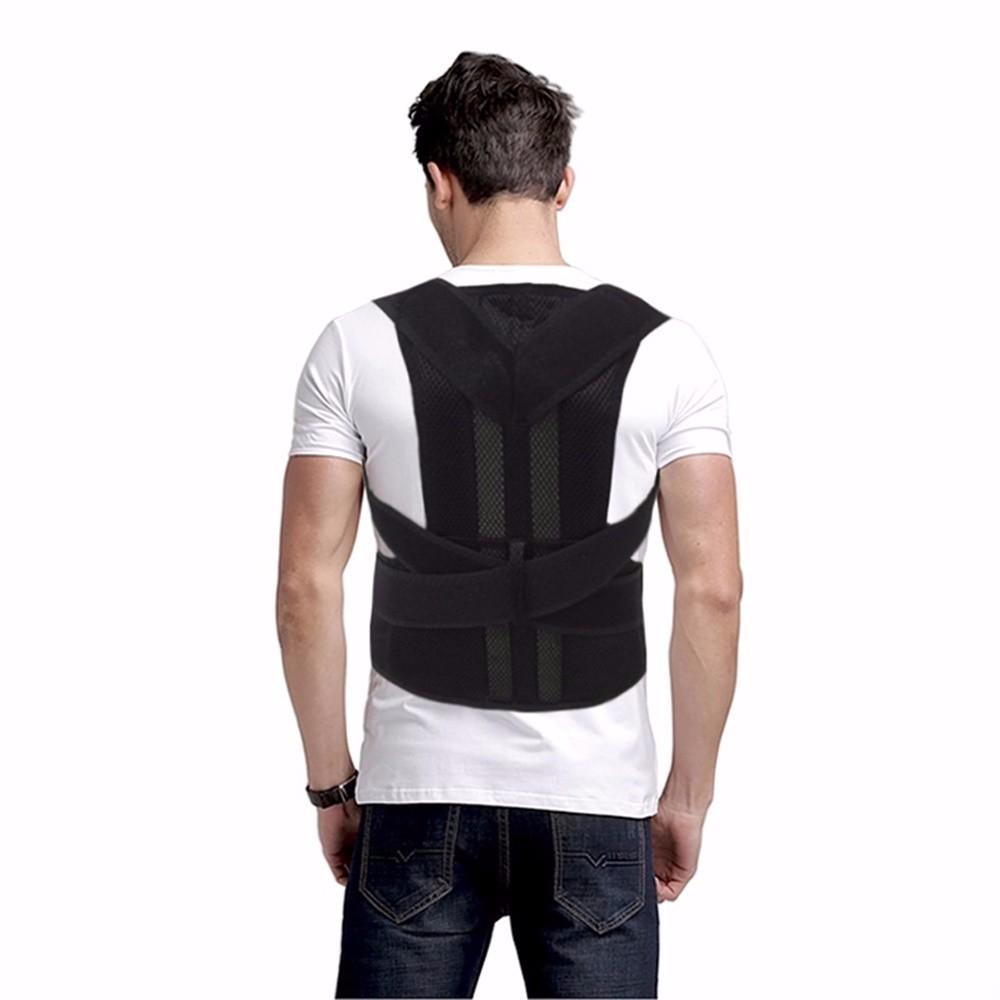 Aofeite  B003 orthopedic belt for back back posture Belt Round Shoulder Back Brace adjustable posture corrector men 2