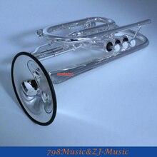 Профессиональный посеребренный Корнет рога b-плоский двойной триггер труба с Чехол LORICO кольцо немой