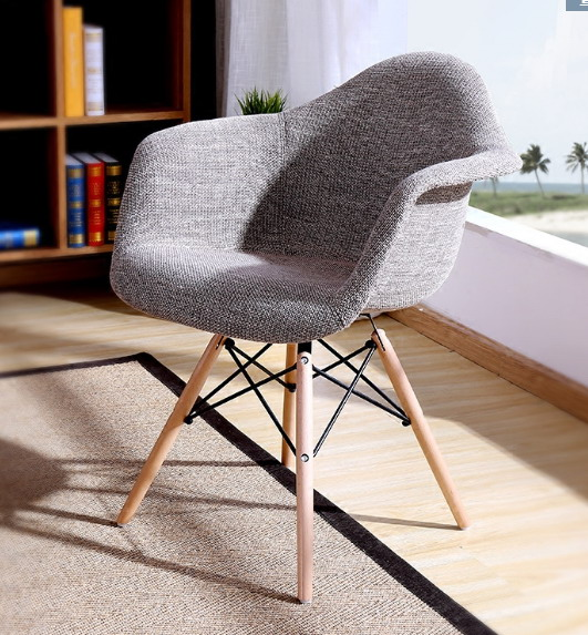 Modern Design Upholstered Nice Color Arm Chair Fabric Soft