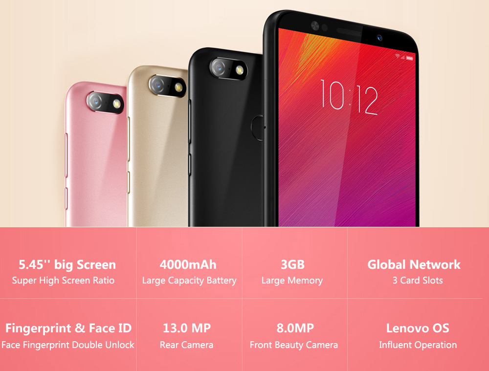 Global Version Lenovo A5 3GB RAM 16GB ROM MTK6739 Quad Core Smartphone 5.45' Fingerprint 4G LTE Phones 4000mAh Battery Face Unlock (1)