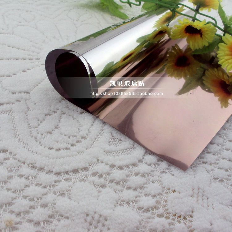 Brown glass film tea mirror decorative film one way transparent thermal film sunscreen explosion proof shading window stickers in Decorative Films from Home Garden