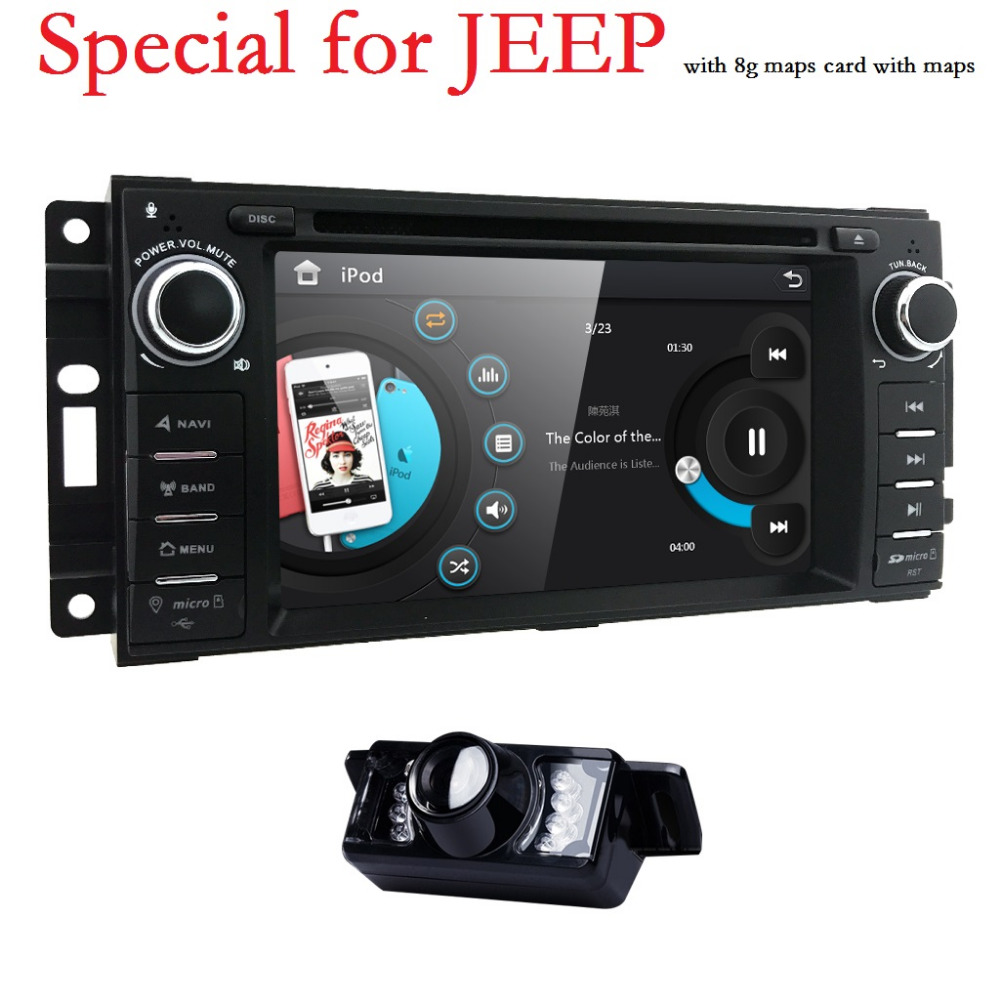 1 Din Car DVD Player For jeep Grand Cherokee Chrysler 300 Compass Chevrolet Epica Dodge RAM Wrangler Car Radio Tape Recorder 3G loreada throttle body 4861661aa 4861661ab for jeep grand cherokee liberty dodge dakota nitro ram 1500 3 7l 3 8l
