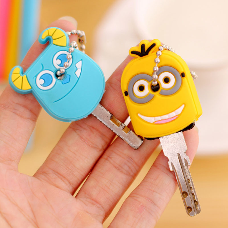 1pcs cartoon Silicone Protective key Case Cover For key Control Dust Cover Holder Organizer Home Accessories Supplies 1