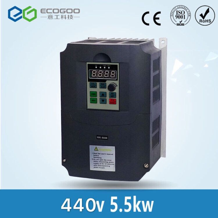 440V / 5.5KW Inverter Frequency Drive Inverter 3 phase CNC Inverter VFD 3 phase 5500W Inverter new 3 phase 440v 3 7a 1 5kw frequency inverter vfd frequency ac drive