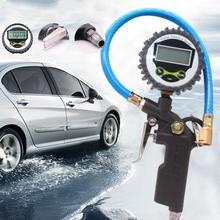 자동차 자동 디지털 타이어 압력 게이지 미터 타이어 공기 팽창기 도구 220psi