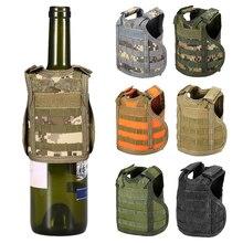 Тактический пива жилет чехол для пивной бутылки военный Мини Миниатюрный Молл охотничий жилет напитков холодильник для бутылок, банок держатель ноутбука