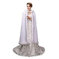 Top Sale 120cm length Georgian Gothic Period Dress White Woolen WinterTheatre Clothing