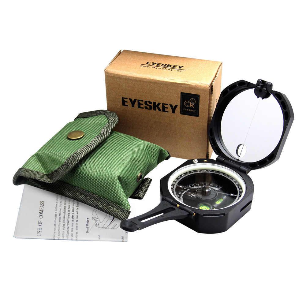 Eyeskey Professionelle Geologische Kompass Leichte Outdoor Überleben Military Kompass für Mess Hang Abstand