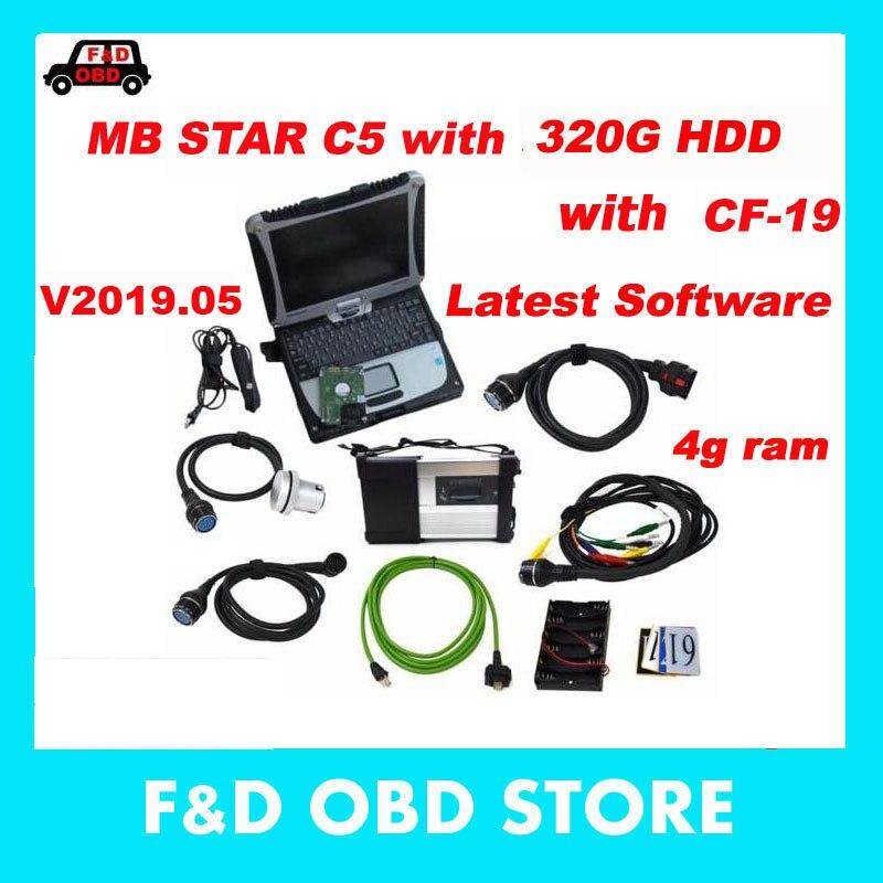100% Wahr Diagnose-tool Mb Star C5 Sd Verbinden Plus Laptop Cf19 Hdd Software Für Mb Star C5 Unterstützung Mb Autos & Lkw Diagnose Scanner Werkzeug 2019 New Fashion Style Online