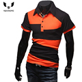 Mens Polo Shirt Brands 2016 Male Short Sleeve Fashion Casual Slim Personality Spell Color Polos Men  Jerseys