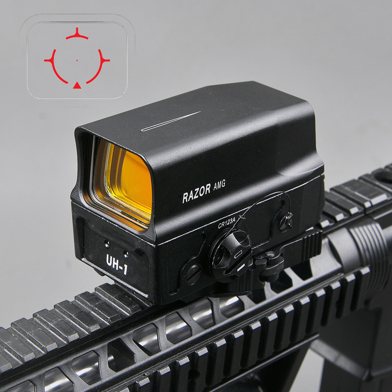 UH1 Tactical Red Dot Sight Scope Reflex Sight Holographic Red Dot Rifle Sight with USB Charge for 20mm Mount Airsoft Hunting tactical hunting red dot riflescope reflex holographic dot sight auto brightness laser sight scope for airsoft accessories