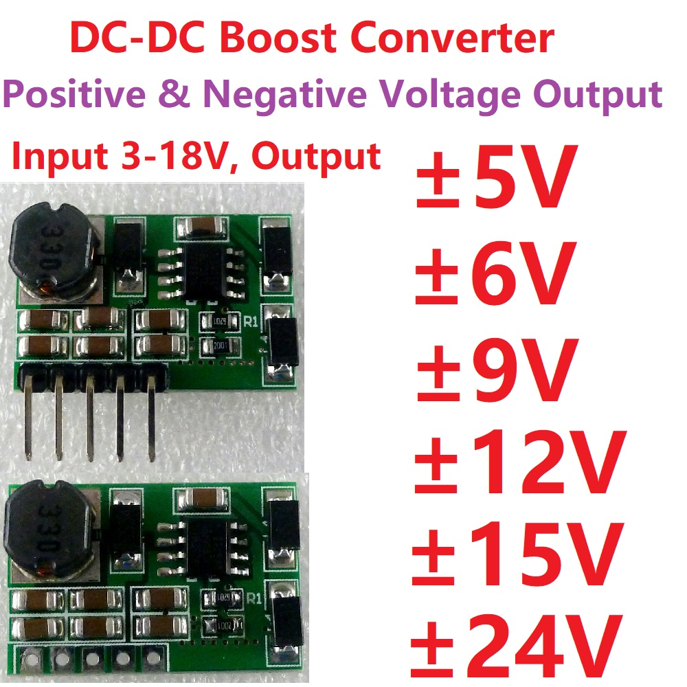 30W DC-DC Boost Converter 5v-35v to ±5V  ±12V ±15V P//N Dual Power Supply Module