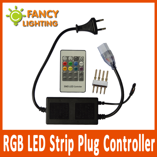 high quality rgb led strip plug controller for 220v. Black Bedroom Furniture Sets. Home Design Ideas