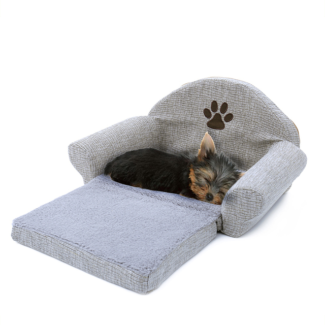 Pet Removable Dog Bed Four Seasons Gray Dog Sofa Dog Cat House Washable Pet Cushion For Pet bed Animals Pet Products 1