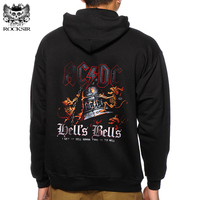 Rocksir Brand Men S Hoodie ROCK Band Ac Dc Printing Men Acdc Black Hoodies Sweatshirts Autumn
