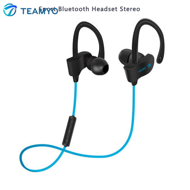 Teamyo Bluetooth Earphone Headphones Wireless Sport Headset Stereo Earplugs with Microphone for iPhone Samsung Xiaomi 3 4 5 universal sport stereo handsfree wireless bluetooth 4 0 stereo headphones sport earphone headset for samsung iphone