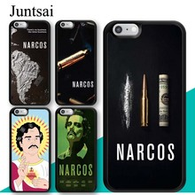 Juntsai Narcos Pablo Escobar TV Series Poster Phone Case for iphone 5 6 6s 7 8 Plus X XR XS MAX TPU Cover Coque For 7Plus