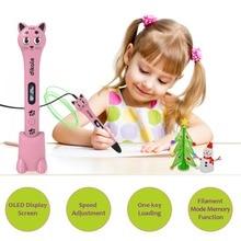 Dikale 3D Pen Printer Cute Cat PLA Stylo Lapiz Printing Pencil Filament Kreatywne Caneta Magica Prezent Urodzinowy