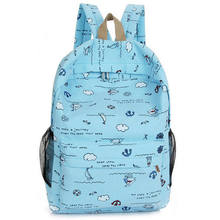 Cute children's bag cartoon print girl backpack fashion new portable travel shoulder bag(China)