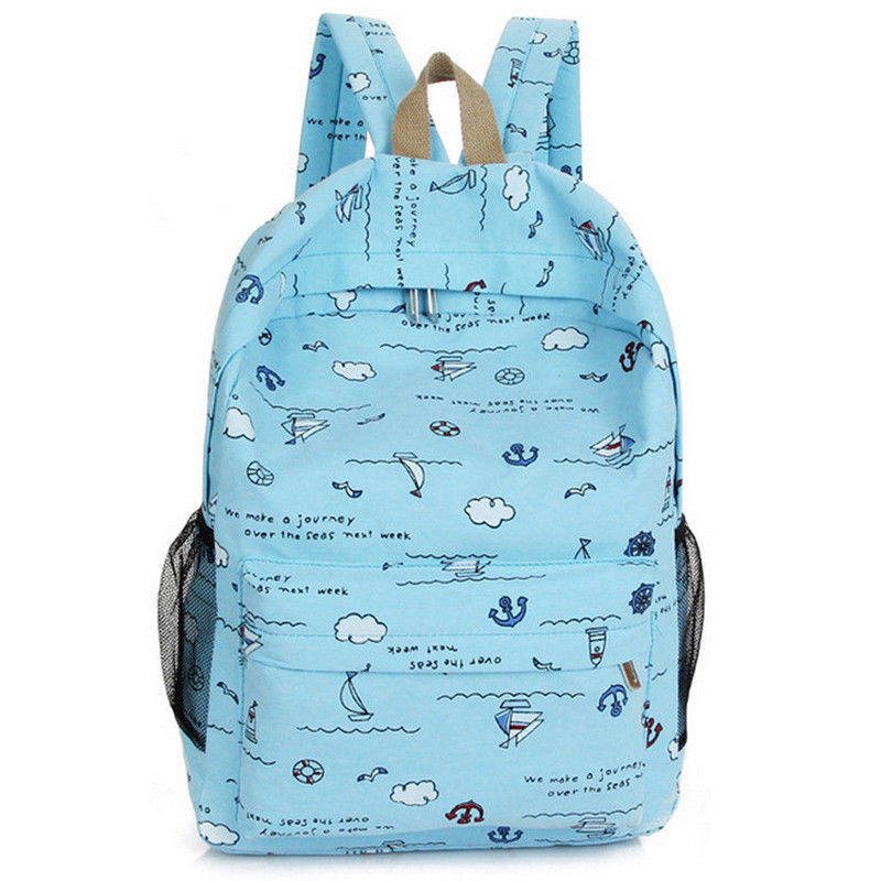 Sevimli çocuk çantası karikatür baskı kız sırt çantası moda yeni taşınabilir seyahat omuz çantası