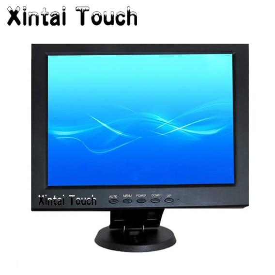 Monitor LCD de pantalla táctil resistiva de 5 hilos de 10,4 pulgadas con DVI, VGA para PC/POS