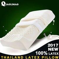 Thailand Natural Latex Bedding Bedroom Pillow Massage Cervical Vertebra Protection Orthopedic Natural Latex Pillow Free Shipping