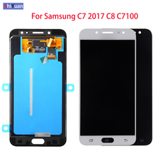 цены 5.5 inch For Samsung Galaxy C7 2017 C8 C7100 C710 LCD Display Touch Screen Digitizer Assembly C710F/DS J7+ J7 Plus Screen Black