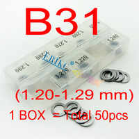 ERIKC B31 50 Pcs Diesel Injector Nozzle Washer and Fuel Injection Shim Kits  Different Types Injector Gasket 1 20mm--1 29mm