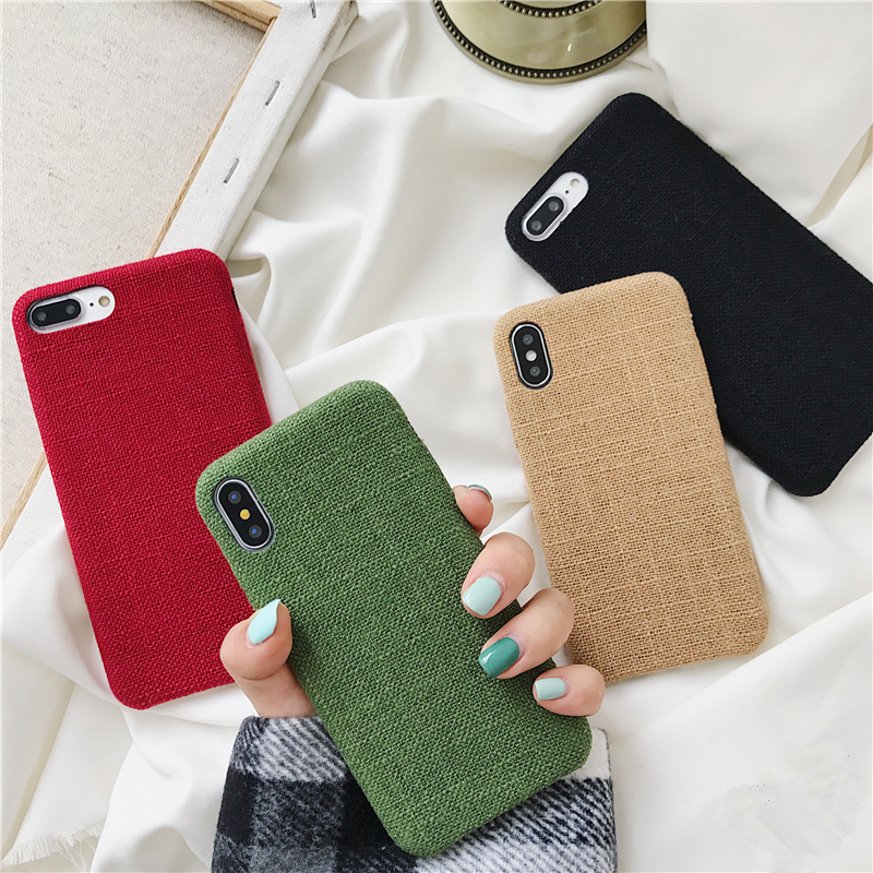 Responsible Winter Warm Plush Fabric Linen Soft Tpu Case For Iphone 7 8 Plus 6 6s Cotton Cloth Phone Covers For Iphone Xs Max Xr X 10 Capa Grade Products According To Quality Cellphones & Telecommunications