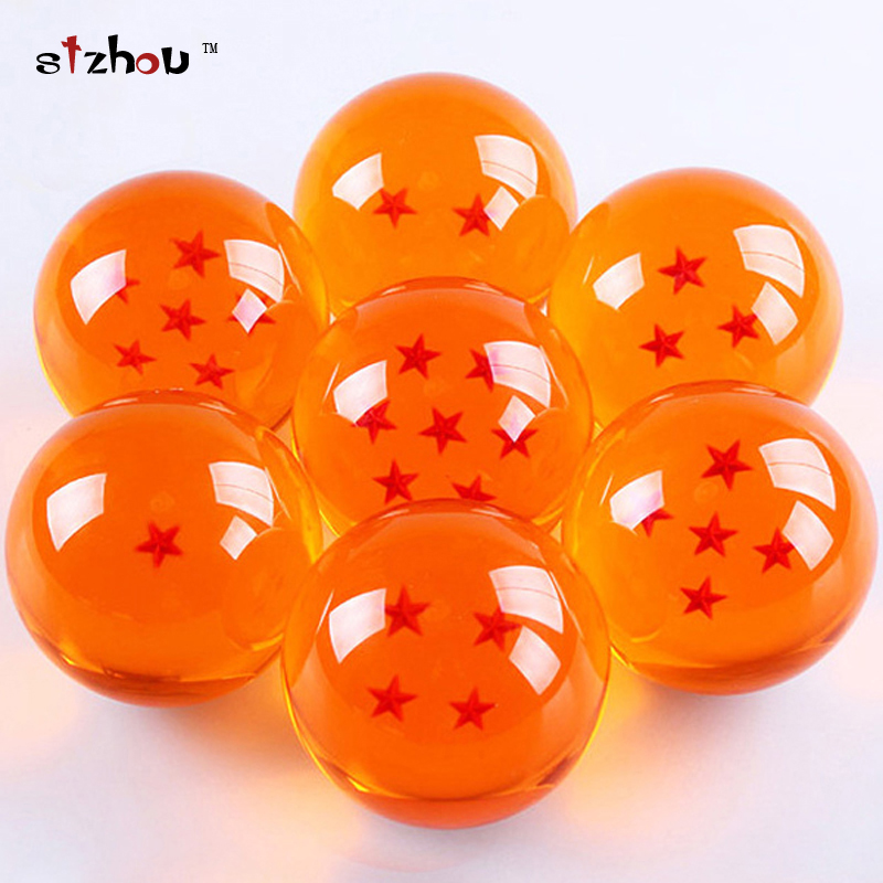 1set 3.5CM Dragon Ball Z New In Box 7 Stars Crystal Balls Set of 7 pcs Complete set retail new style blue ribbon 45 cm english premiership trophy cup barcley premiership cup cup soccer football replica trophy cup