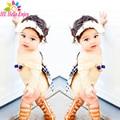 HE Hello Enjoy baby rompers summer2017 мода новорожденных детская одежда девушки С Длинным рукавом bowknot backless комбинезоны детской одежды