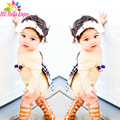 HE Hello Enjoy baby rompers summer2017 fashion newborn baby clothes girls Long sleeve bowknot backless jumpsuits infant clothing