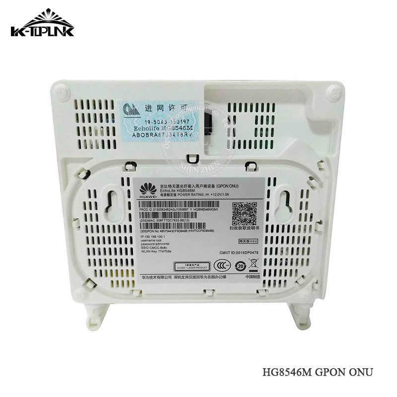 10 шт. б/у Hua wei HG8546M GPON ONU ONT 1GE + 3FE + VOICE + wifi оптический сетевой терминал модем английское программное обеспечение телекоммуникационная сеть