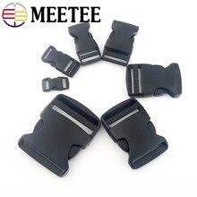 Meetee Plastic Side Release Buckles Backpack Belt Bag Parts Strap Webbing Pet Collar Buckle 10mm 15mm 20mm 25mm 32mm 38mm 50mm