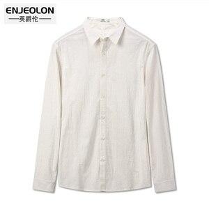 Image 4 - Camisa Masculina Enjeolon para otoño, camisas de algodón para hombre, camisas sólidas para hombre, blusa 3XL, camisas de manga larga para hombre, CX2517 1
