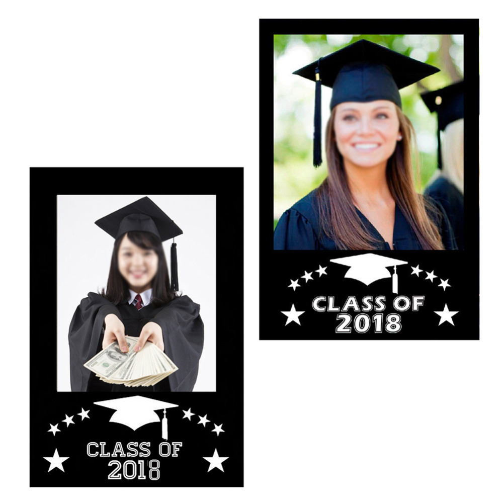 Class Of 2018 Diy Paper Picture Frame Cutouts Photo Booth Props For